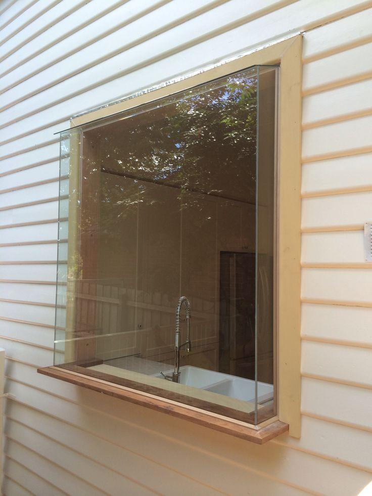 Timber box bay kitchen window