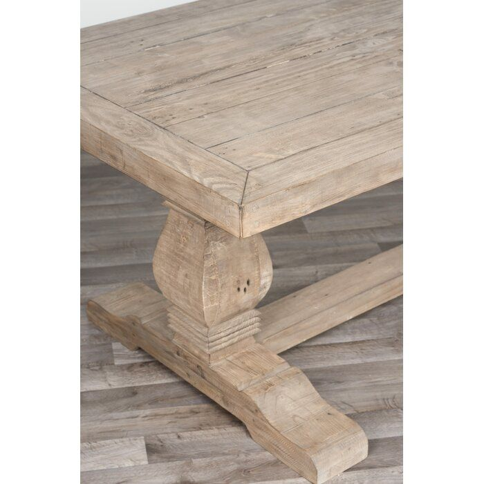 Gertrude Solid Wood Dining Table In 2020 Reclaimed Wood Dining