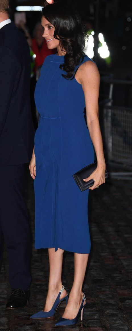 9 6 2018 Jason Wu Blue Sleeveless Sheath Dress With Pleated Front Bespoke Ss Of Sus Attends 100 Days To Peace Gala Concert