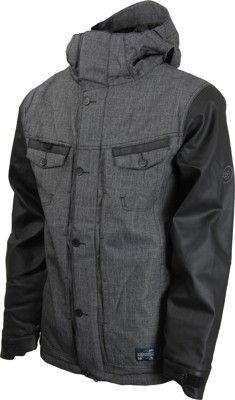 686 Reserved Transit Jacket - black denim texture - Snowboard Shop > Men's Snowboard Outerwear > Snowboard Jackets > Shell Snowboard Jackets