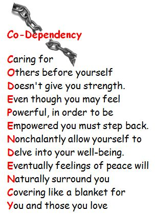 being codependent in a relationship
