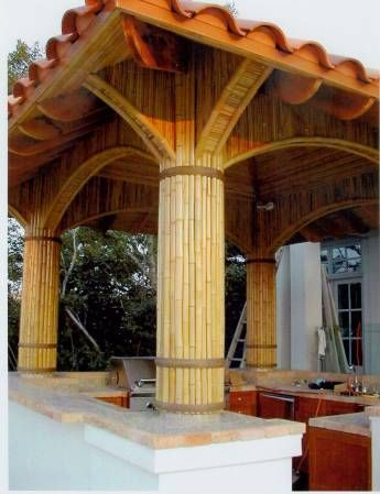 Lake Travis Bamboo Cabana -1 - Bamboo Arts and Crafts Gallery