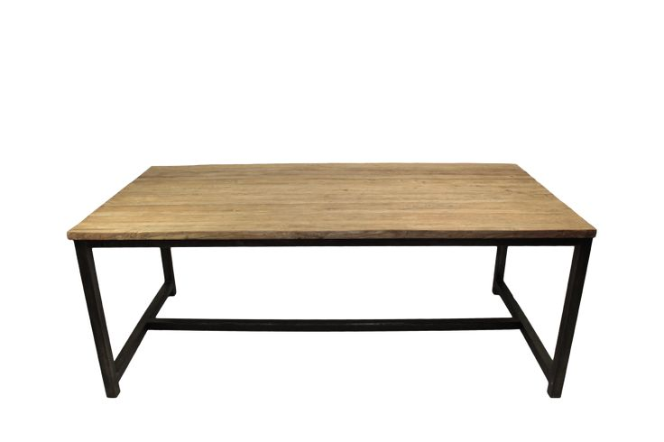 Henk Schram Dining table iron legs 220 Blank 220*100*78 (Teak) 870 euro