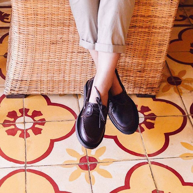 """"""" Fill your long weekend with joy """" In frame : Chartres Dark Wine Price 599k idr  Don't forget to share us your fitpict using hashtag #cannesfit, and tag us ! We'll pick the best to regram it.  #cannes #chartres #moccasin  #handmade #craft #shoes #vsco #leathershoes #dailywear"""