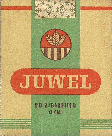 Cigarettes old label from GDR.