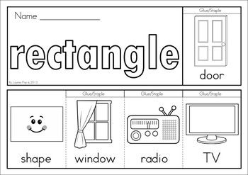 SHAPES - 11 Flip Books (colored & black and white). Includes a response / recording sheet. Great for preschool and kindergarten children. Fantastic paper saving idea - a little booklet made from just one piece of paper!