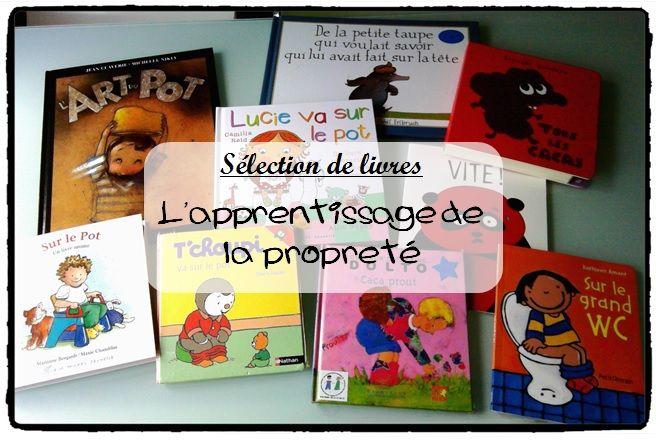 sélection de livres apprentissage de la propreté, le pot, les toilettes, propreté enfant, caca, pipi