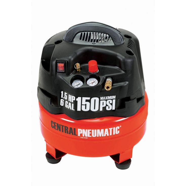 1.5 Horsepower, 6 Gallon, 150 PSI Professional Oilless Air Compressor