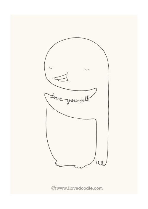 Love Yourself Penguin By Ilovedoodle