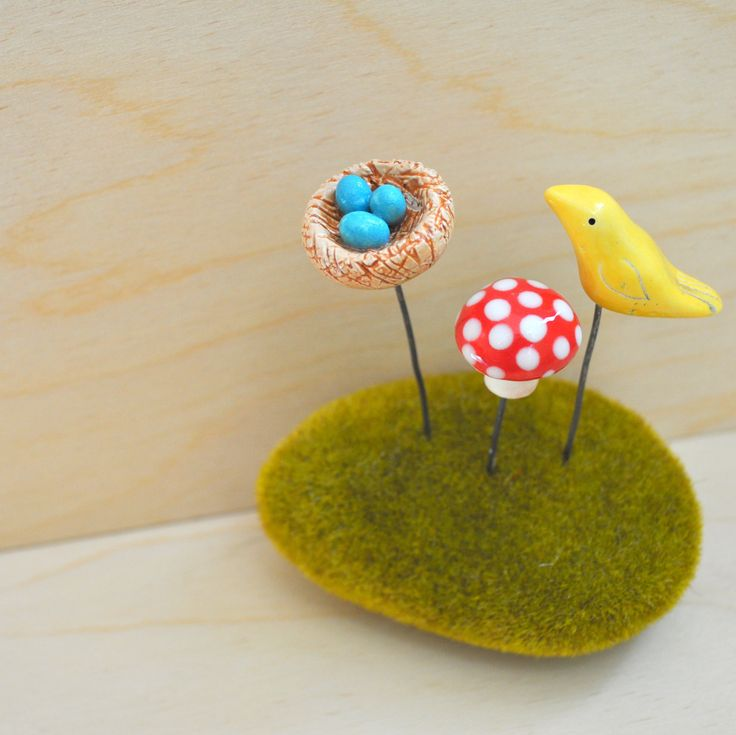 Ceramic Woodland Figurines for your Terrarium or by chARiTyelise, $38.00