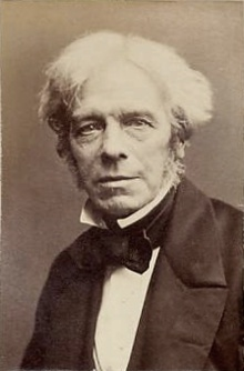 Michael Faraday, FRS (22 September 1791 – 25 August 1867) was a scientist, chemist, physicist and philosopher who greatly contributed to the fields of electromagnetism and electrochemistry. His main discoveries include that of the Magnetic Field, Induction, Diamagnetism and Electrolysis. When asked by the British government to advise on the production of chemical weapons for use in the Crimean War (1853–1856), Faraday refused to participate citing ethical reasons.