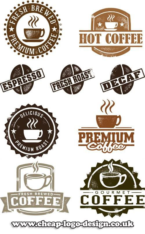 coffe shop stamp logo ideas www.cheap-logo-design.co.uk #coffee #coffeeshop #cafelogo