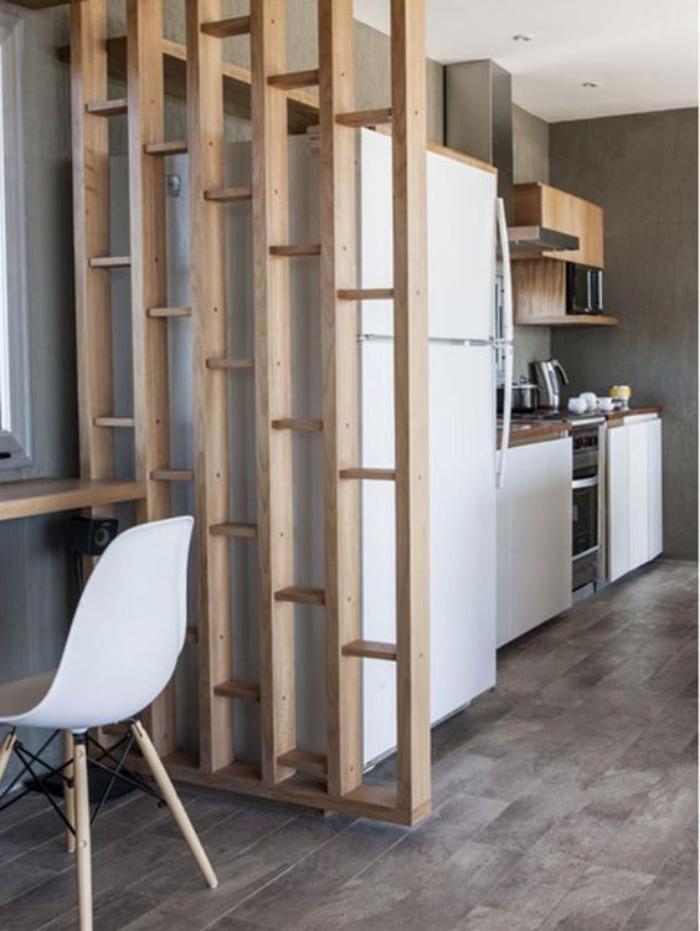 S paration pi ce en bois cuisine plan ouvert s paration piece pinterest d couvrez plus - Separation en bois ...