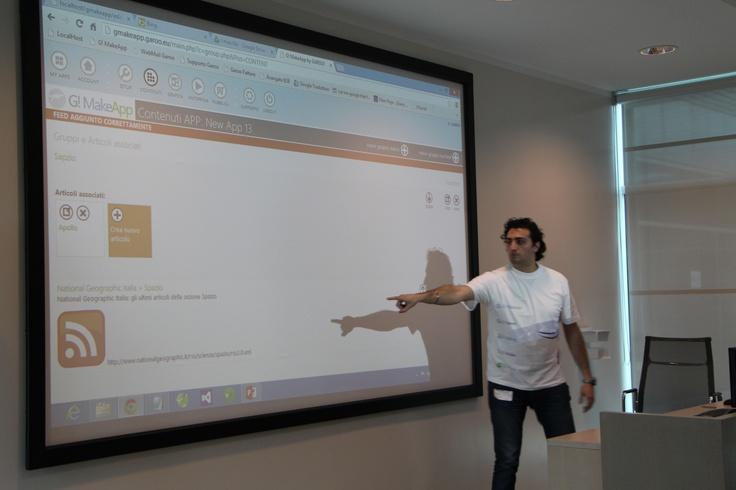 Spiegazione riguardante l'inserimento di contenuti dinamici tramite Feed Rss in G! MakeApp by GAROO!