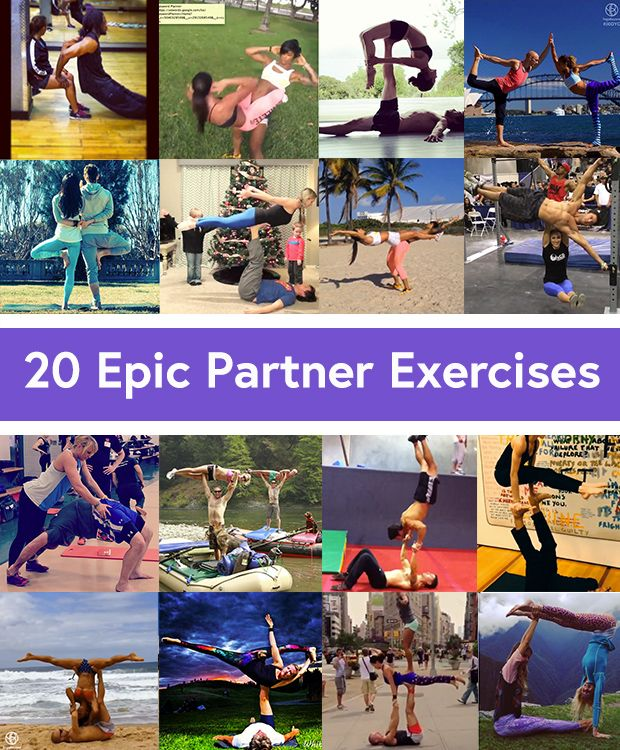 Wanna get very, very close to your workout buddy (romantic or otherwise)?   Try these partner moves (very, very carefully — well, try SOME of them, anyway). Maybe just marvel at the others: 20 Partner Exercises from the Fittest Couples on Instagram.  I make an appearance with fellow PCC instructor Phil Ross in No. 8!