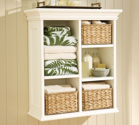 bathroom shelving idea   – Guest bath