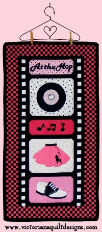At the Hop - Then... ♥ #quilting #1950s #nostalgia