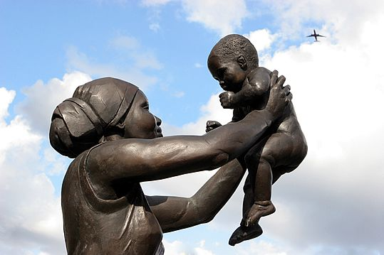 The first public statue of a black woman in England, Bronze Woman was the brainchild of a black woman: Guyanese poet and local resident Cécile Nobrega.  Based on and named after her own poem, Bronze Woman took 10 years of planning, fundraising and determination by Nobrega and other groups and individuals who wanted to mark the struggles faced by Afro-Caribbean women, as well as their contribution to society.