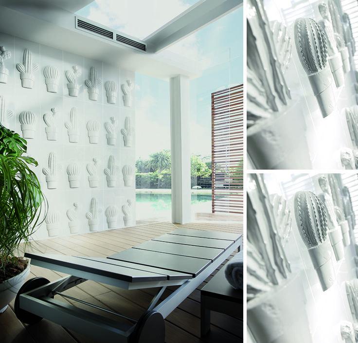 Vives azulejos y gres cultura dec pieza cactus tiles for Azulejos vives
