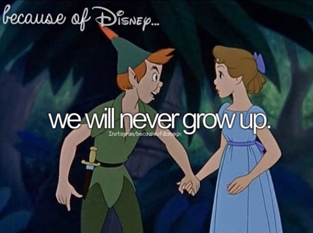 We will never grow up