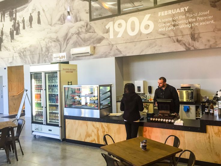 Their new Glacier Base Café