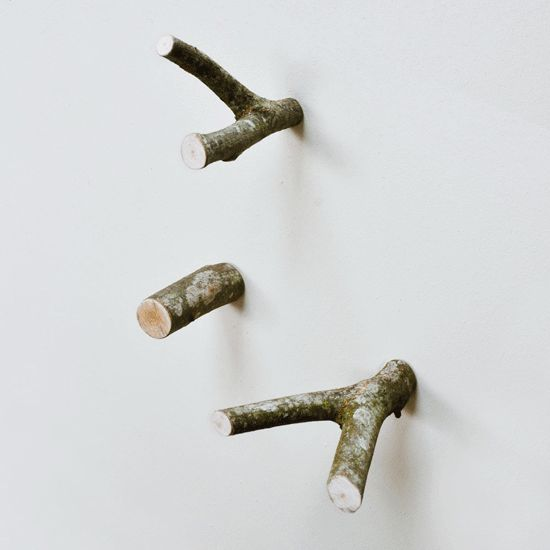 Hooks made of branches