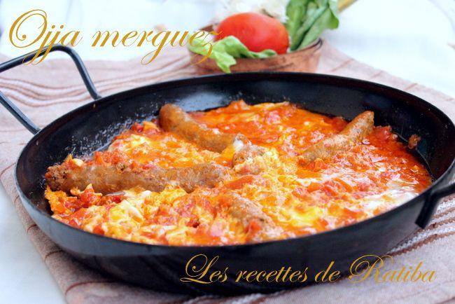 Ojja Merguez - Tunisie  500 g de merguez  3 belle tomates 5 gousses d'ail harissa cumin sel et poivre  huile d'olive 5 oeufs   1/ Chauffer un peu d'huile ajouter l'ail  écrasé et faite revenir sans brûler 2/ ajouter les tomates épépinées et coupées en petit dés 3/ ajouter les épices 4/ a part faites cuire les merguez dans une poêle ensuite ajoutez les a la tomate. Une fois que la sauce a réduit cassez vos oeufs, mélangez les en omelette ajoutez les pardessus la sauce.