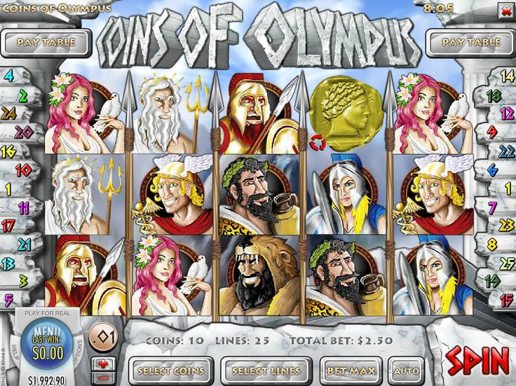 Coins of Olympus - http://freeslots77.com/coins-of-olympus/ - Listening stories of the Gods from Greek mythology is an exciting experience. Rival Gaming introduces those Gods through its Coins of Olympus online slot machine. The 5-reel and 25-payline slot entertain you with plenty of free spin features and bonus games that will help you in winning some...