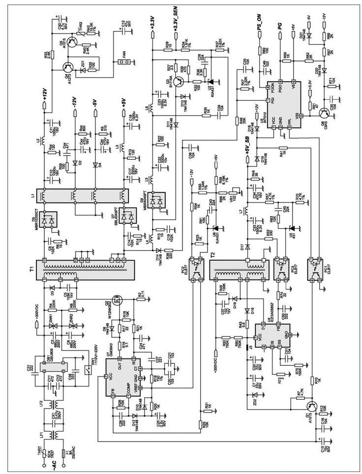 Схемотехника и ремонт блоков питания Power Man IP P350AJ2