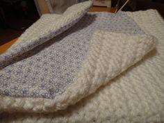photo comment coudre tissu sur couverture laine