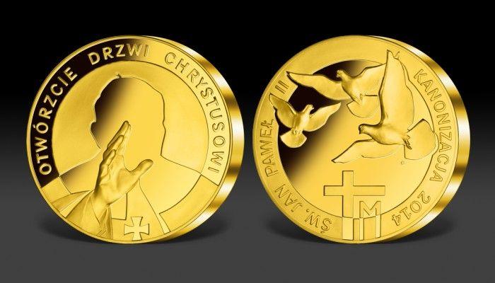 Święty Jan Paweł II - wielki medal kanonizacyjny
