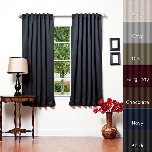 "Window Treatment Ideas For Livingroom Thermal Insulated Curtains 52""W x 63""L  