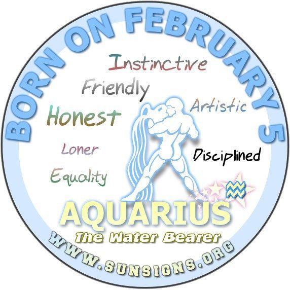 February 5 - Aquarius Birthday Horoscope Analysis & Personality Traits » Sun Signs