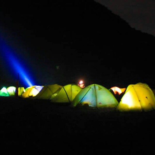 The parade of Merapi Mountain tents