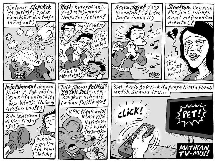 Mice Cartoon: Matikan TV-mu (Kompas Minggu 08 Desember 2013)
