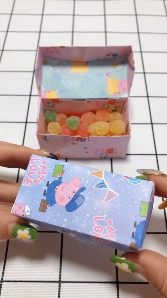 Origami Candy Box & Lid Instructions - Paper Kawaii | Origami candy box, Origami  candy, Candy box diy | 1024x577
