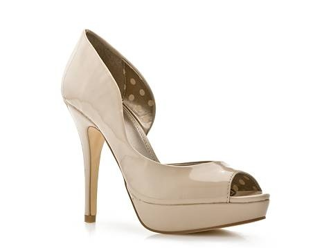 DSW - Fergalicious Eileen Pump $39.95 (This is the shoe Becca had on her feet) They are sold out of a lot of sizes online.... I really like these