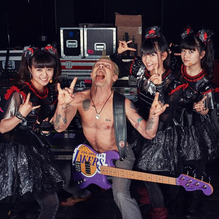 BABYMETAL and Flea from Red Hot Chili Peppers