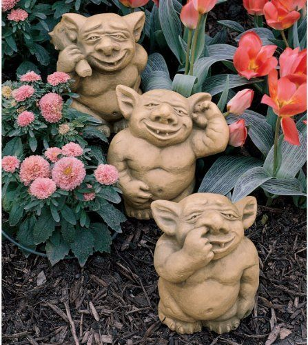 The Picc A Dilly Gargoyle Sculptures   Medium Set Includes: Medium Bum, · Garden  StatuesGarden ...