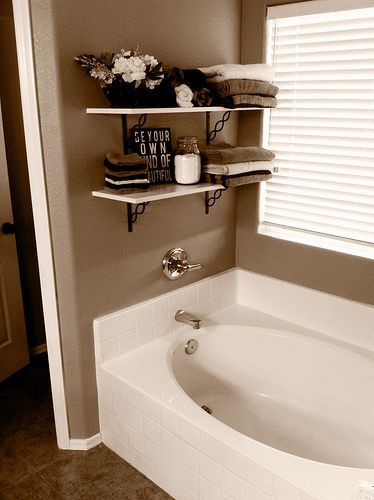 Bathroom Shelves in Master