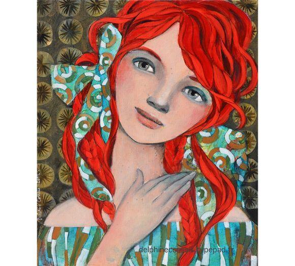 Minois rafraîchissant   Margot Mentalo   Painting   by Delphine Cossais