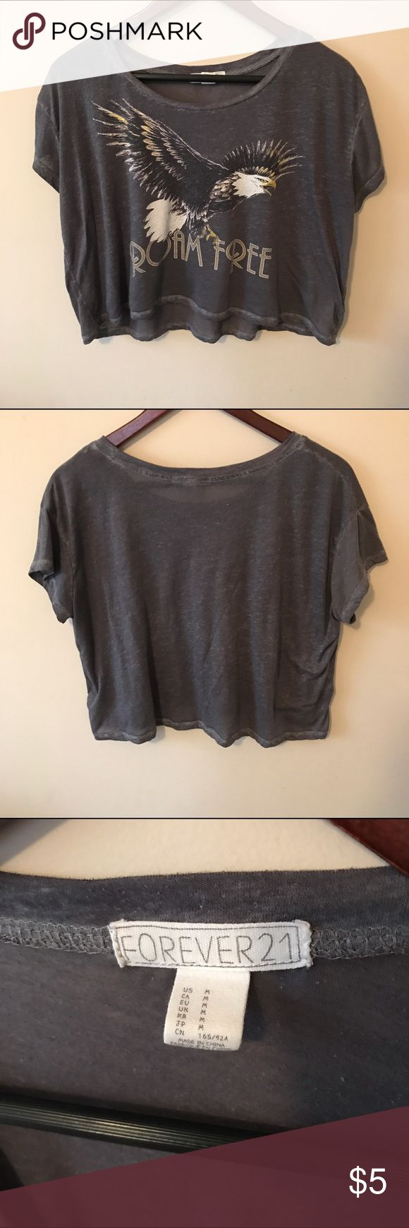 Forever 21 Cropped Tee Thinner material. Very light. Worn a few times. Discount if you bundle! :) Forever 21 Tops Crop Tops