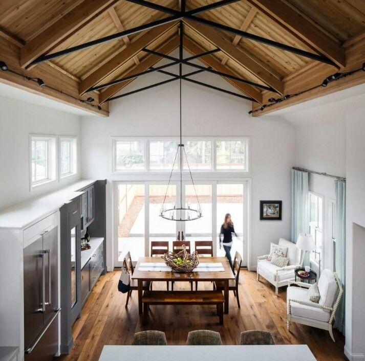 50 Vaulted Ceiling Image Ideas Make Room Spacious Casanesia In 2020 Farmhouse Renovation Home California Modern