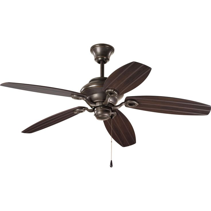 Progress Lighting AirPro Antique Bronze Indoor/Outdoor Downrod Or Close  Mount Ceiling Fan At Loweu0027s. Five Blade Patio Fan With Toasted Oak Blades  And An ...