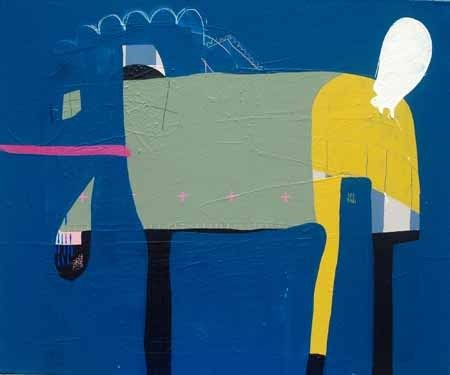 Kate McCarthy   Linen - 2013  Acrylic, oil, pencil on canvas  60 x 50 cm