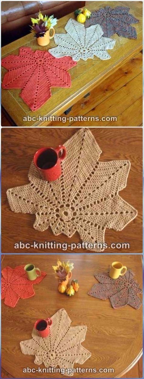 Crochet Chestnut Leaf Table Runner Free Pattern- Crochet Table Runner Free Patterns