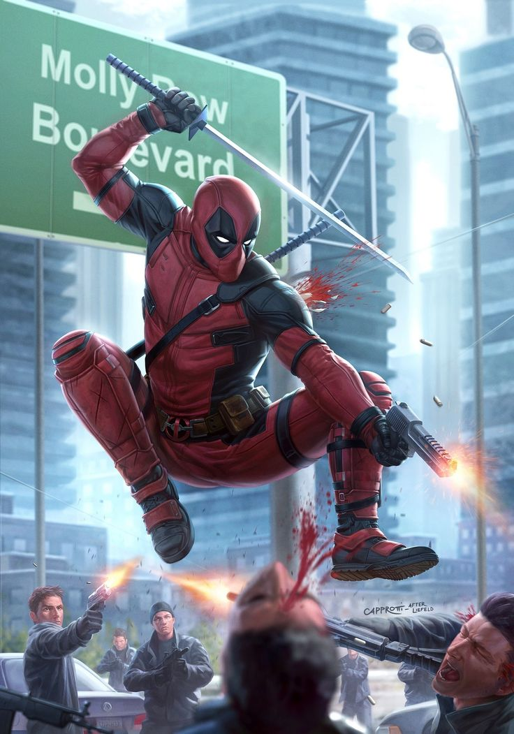 Deadpool Issue #1 (Redux), Mike Capprotti on ArtStation at https://www.artstation.com/artwork/OPVVg