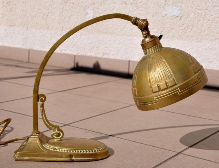 Stara lampka na biurko secesja, gabinet