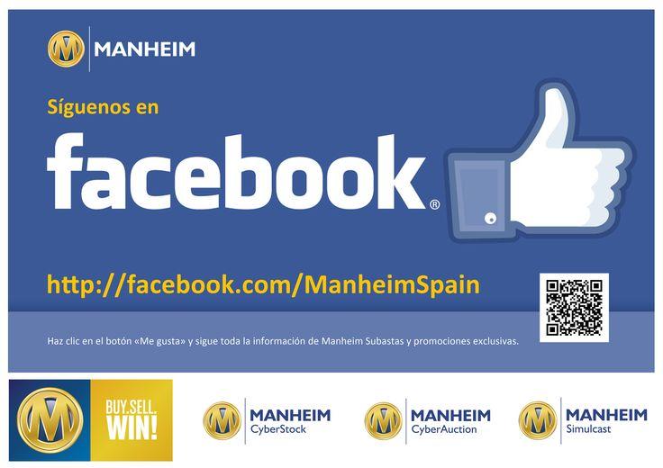 Promoción de la página de Facebook de Manheim España
