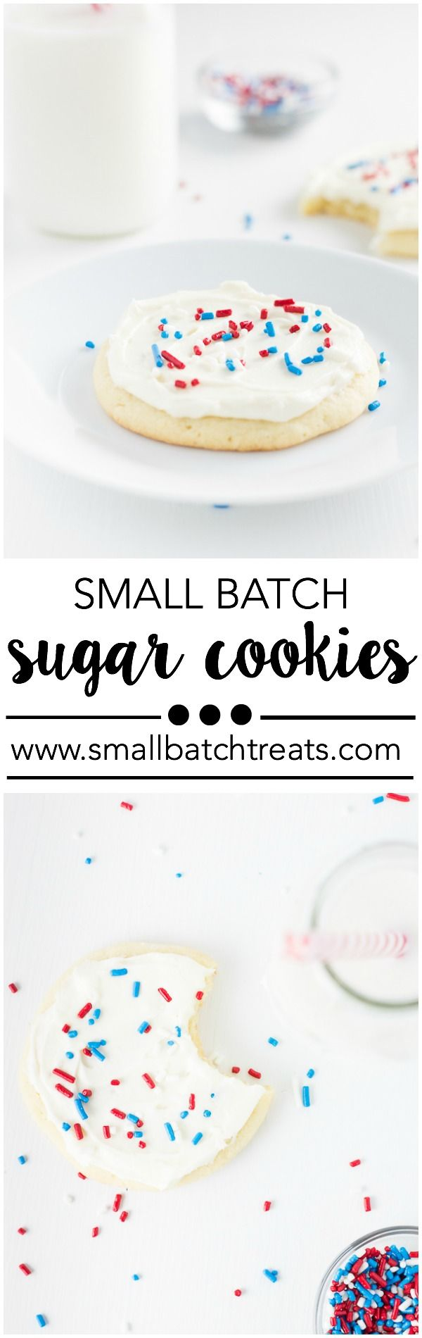 Small Batch Sugar Cookies. Recipe makes just 6 cookies! www.smallbatchtreats.com